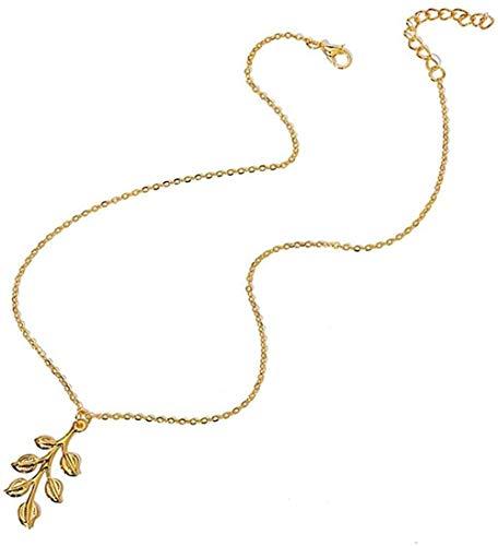 AOAOTOTQ Co.,ltd Necklace Heart Leaves Pendant Necklaces for Women Girls Vintage Bohemian Gold Necklace Elegant Choker Jewelry