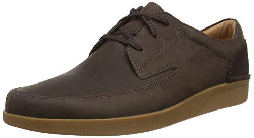 Clarks Oakland Craft, Zapatos de Cordones Derby Hombre, Marrón (Dark Brown Nub Dark Brown Nub), 45 EU