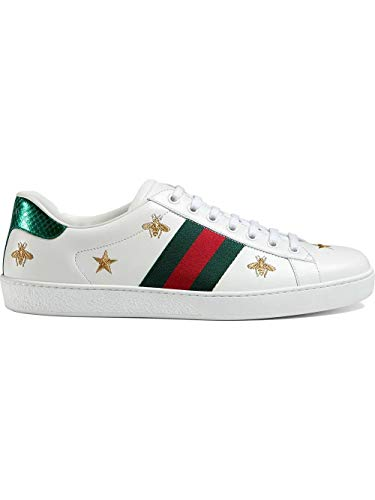 Luxury Fashion | Gucci Heren 386750A38F09073 Wit Leer Sneakers | Lente-zomer 20