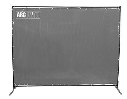 Arc Union Welding Screen With Frame Gray 6x6
