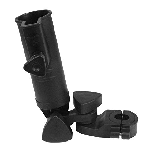 Tenedor del Paraguas del Golf, Accesorio Universal Duradero del Soporte del Tenedor del Paraguas del ángulo Ajustable para El Carro De Golf Negro
