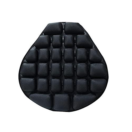 Cojín de Asiento de sillín de moto Almohadilla de aire para motocicleta cubierta de asiento de enfriamiento asiento inflable descompresión alivio de presión almohadilla para asiento de aire cojín para