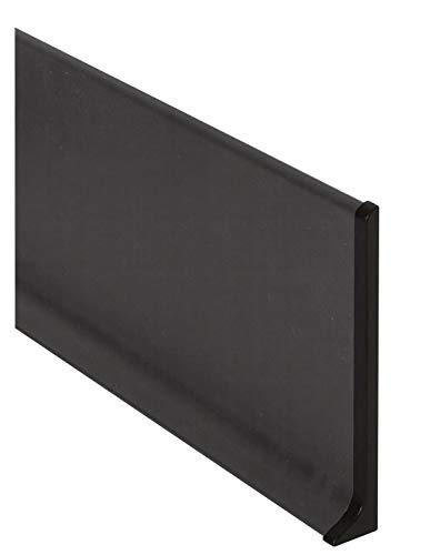 Jardin202 - Rodapie Aluminio Labio Inferior Negro 3m