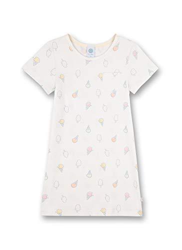 Sanetta Mädchen Sleepshirt Allover beige Baby-und Kleinkind-Schlafanzüge, White Pebble, 128