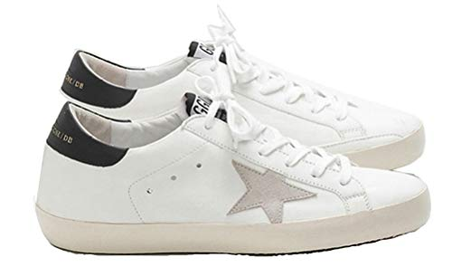 Golden Goose Casual Walking Shoes Super Star Black Tab Sports Sneakers for Mens