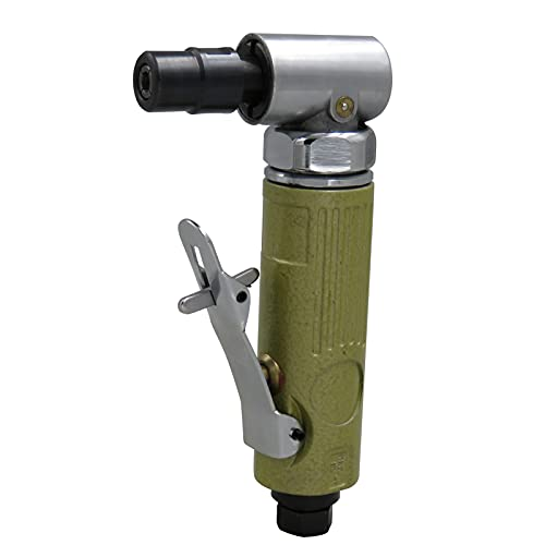 Amoladora de ángulo de aire, Operalie KP-626 Amoladora de ángulo neumática Herramienta de amoladora de ángulo neumático de 1/4 pulgada Destornillador de arena de ángulo de aire para trabajo pesado, án
