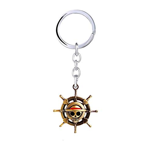 Desconocido One Piece Llavero de Metal Monkey D Luffy Logo - 3,7 cm