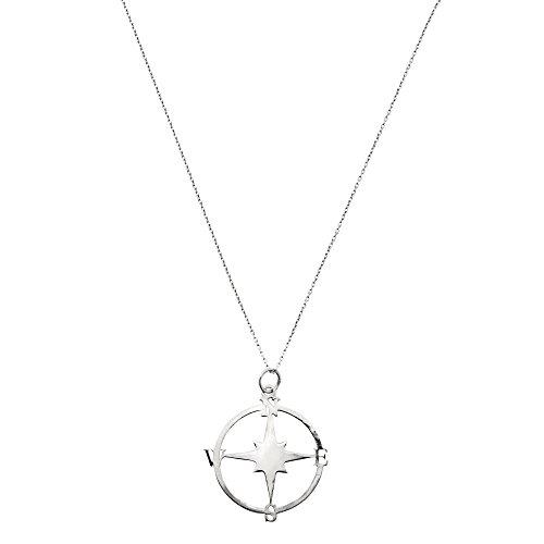 Córdoba Jewels | Gargantilla en Plata de Ley 925 con diseño Rosa de los Vientos Silver
