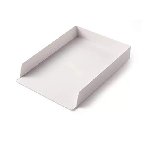 Caja de almacenamiento organizador de papel para documentos, oficina, mesa, escritorio, superposición, llenado, archivo, caja de almacenamiento de tamaño de plástico duradero (color: M)