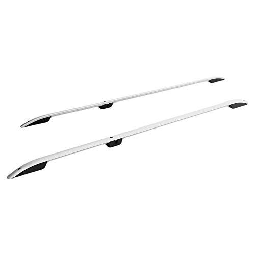 RE&AR Tuning Barras de Techo Aluminio rieles Portaequipajes Barras Superiores Rail laterales juego para Renault Trafic 2014-2021 L1/H1 Gris