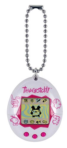 Tamagotchi Electronic Game, White/Pink