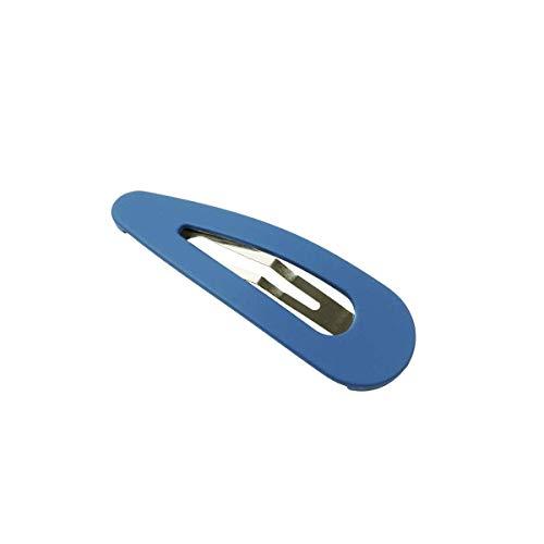 [ATK21]マットカラートライアングルパッチンピンパッチン留め人気可愛い髪留めへアクリップレディースヘアアクセサリー(S)サイズ(Blue)