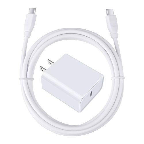 USB C Fast Charger for Google Pixel 6 5 4 4A 4XL 3 3A 3XL 2 XL, iPad Pro 12.9/11,Samsung S21+ S20 FE Plus 5G Note 20 Ultra S10e A21 A20 A50 A01 A10E, 18W 3A PD Power Adapter with 6FT Type C to C Cable