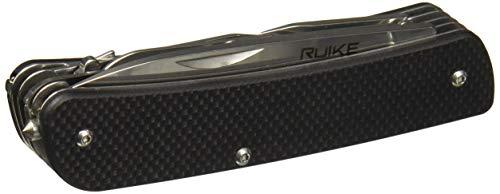 Ruike RKEL42B Hoja Fija, Cuchillo de Caza, Exteriores, Acampada, Unisex Adulto, Negro, Large