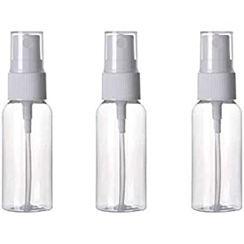SPC Empty Plastic Transparent Refillable Fine Mist Spray Bottle (50ml, White) - Set of 4