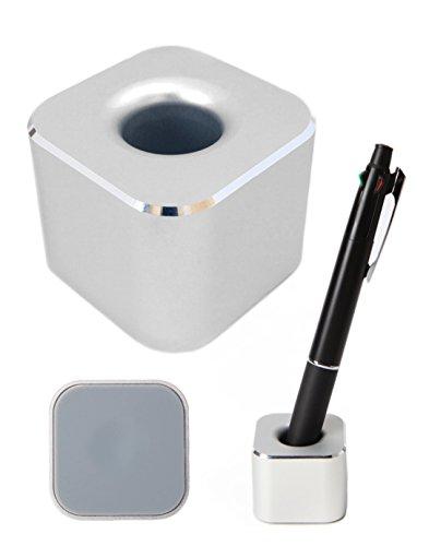 twoPa ペンスタンド 屈強なアルミ合金製の一本用 ペン立て オフィスデスク 店舗 受付 メモに便利な事務用品