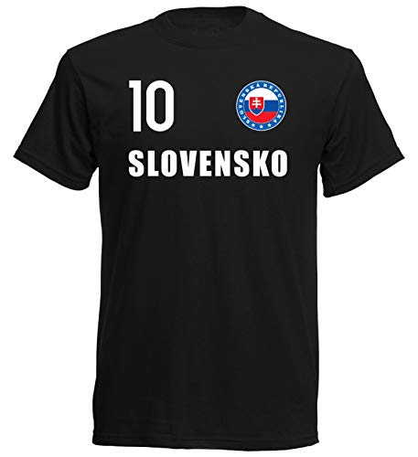 nationshirt T-Shirt Kinder Slowakei Trikot Look Emblem FH 10 SC (164)