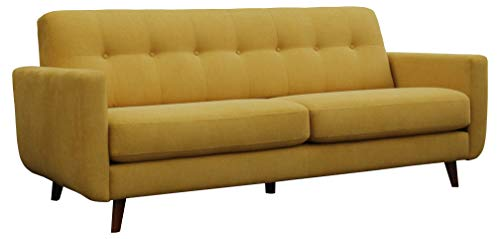 Amazon Brand – Rivet Sloane Mid-Century Modern Sofa with Tufted Back, 79.9'W, Yellow