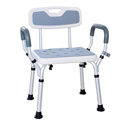 Licht und einfach, Duschstuhl, Badewanne Dusche Shirt Sessel Ergonomische Badewanne/Duschhocker Badsitz mit Handlauf Rückenlehne Invalidität Hilfsmittel rutschfeste Beinauflage