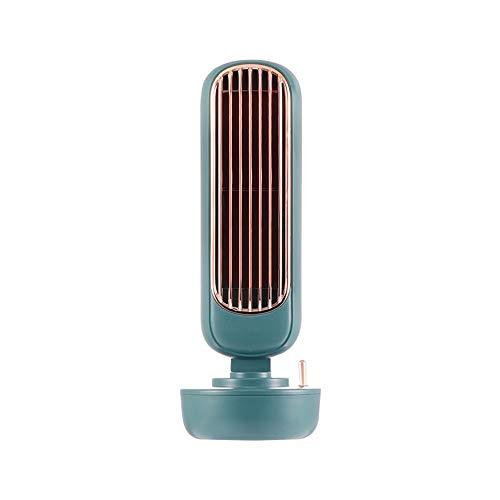 HSTD Ventilador Portátil, Ventilador De Torre De Humidificación Retro, Ventilador De Pulverización Creativo Dos En Uno, Ventilador De Humidificación Integrado USB De Escritorio