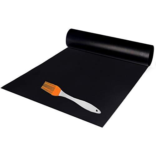 wavraging Grillmatte Backofenzwischenlage 180x40cm Wiederverwendbare Grillmatte, auf Jede Größe zugeschnitten, für Gasgrill, Holzkohle, Elektrogrill, Elektrobackofen, FDA-Zulassung, hitzebeständig