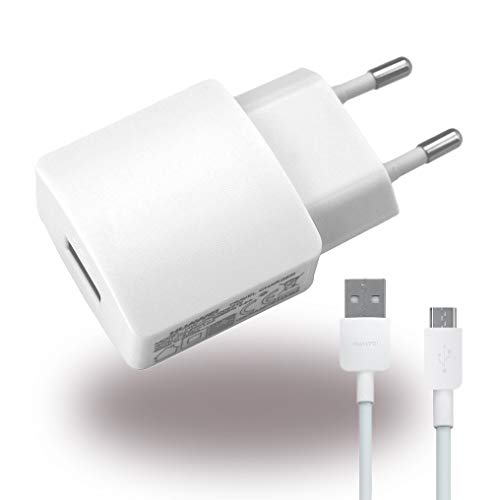 Huawei - HW-050200E3W - Alimentatore / Caricabatteria / Adattatore + Cavo di carica - USB - 2000mAh - Bianco