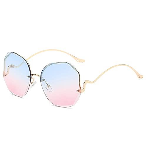 LUOXUEFEI Gafas De Sol Gafas De Sol Sin Montura Mujer Hombre Gafas De Sol Sin Marco De Gran Tamaño Gafas Gafas DeSol Gafas De Sol
