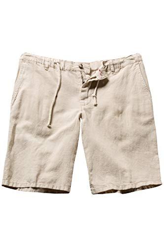 JP 1880 Herren große Größen bis 70, Bermuda, Kurze Hose, Shorts aus Leinenmix, 4-Pocket-Form, Sand 52 714413 22-52