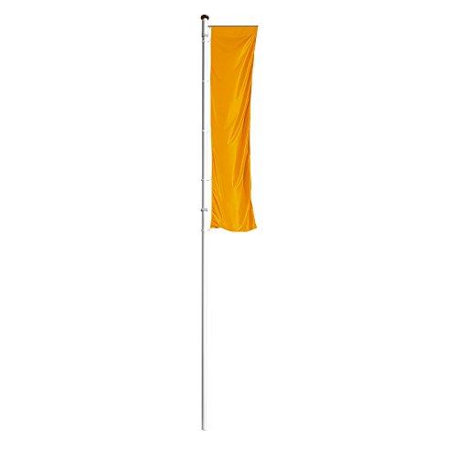 Mannus Fahnenmast aus eloxiertem Aluminium - mit Spezialkurbel, Ø 75 mm, mit drehbarem Ausleger - Höhe über Flur 8 m - drapeau drapeaux mât mât de drapeau mât de pavoisement mâts mâts de drapeaux