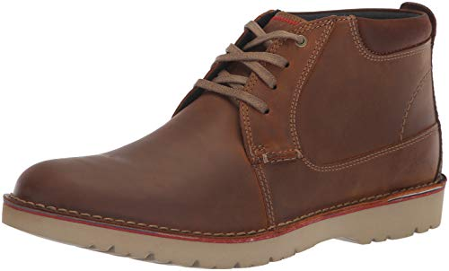 Clarks Mens Vargo Mid Ankle Boot, Dark Tan Leather, 11.5 M US