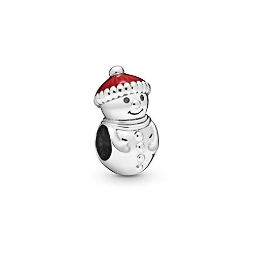 Pandora Jewelry Snowman and Chrisas Hat Sterling Silver Charm