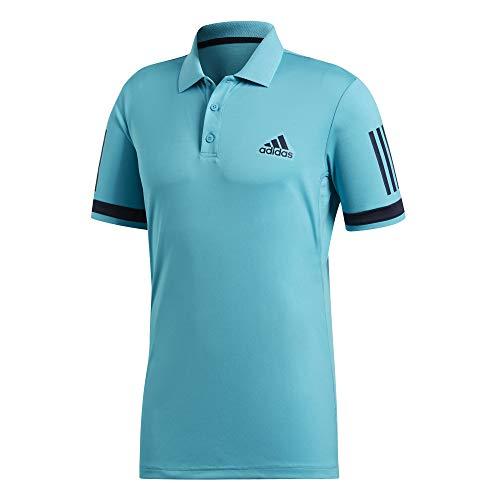 adidas Performance - Club 3 Stripes Herren Tennispolo (schwarz)