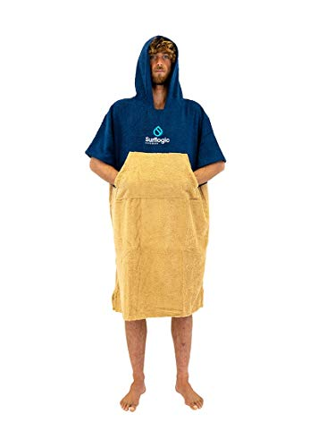 SURF LOGIC Surflogic Poncho/Changing Robe - Navy/Beige - 59803
