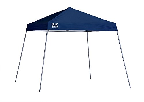 Quik Shade Expedition 10 x 10-Foot Instant Canopy, Slant Leg Outdoor Tent, 64 Square Feet of Shade for 8-12 People - Navy Blue, 160716