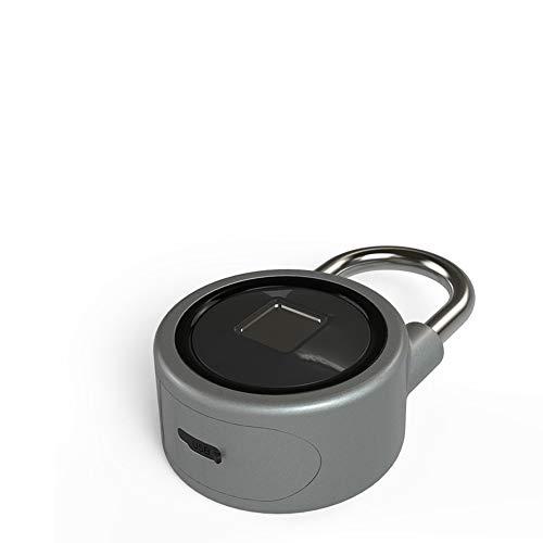 Covan_CN Fingerprint Smart Keyless Lock, wasserdichte App/Fingerprint/Passwort Entriegeln Sie Einbrecher mit Vorhängeschloss Gepäck Türschließfach, APP-Steuerung