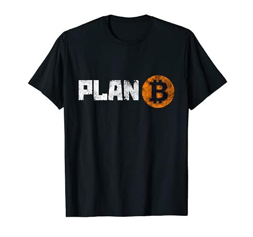 Vintage BTC Bitcoin Cryptocurrency Plan B, Bitcoin Graphic Maglietta