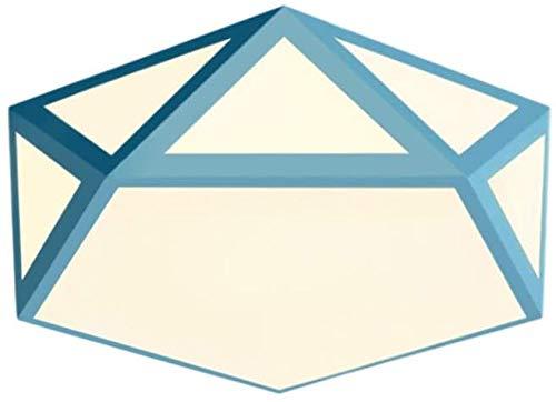 KMILE Dormitorio Techo Luz Flush Monte Luces de Techo Geometría 10 cm Luz LED, 42 cm * 42 cm para la habitación de los niños, Oficina, Corredor