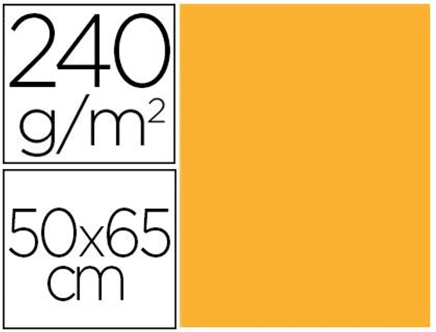 Liderpapel CX93 – Pack of 25 Cardstock, 50 x 65 cm, Gold