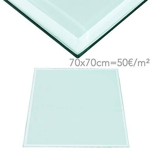 Rapid Teck® 70€/m² Glasplatte Rund Durchm. 600 mm Glastisch Tischplatte aus gehärtetem Glas Tisch Glasscheibe 8mm Dick