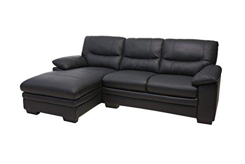 Moebelnet Sofa MOSH in schwarz Couch Couchgarnitur Wohnlandschaft Ledercouch