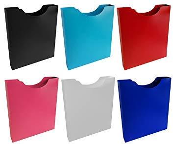 Stylex Heftbox Hochformat Din A4 aus PP , Farbig Sortiert
