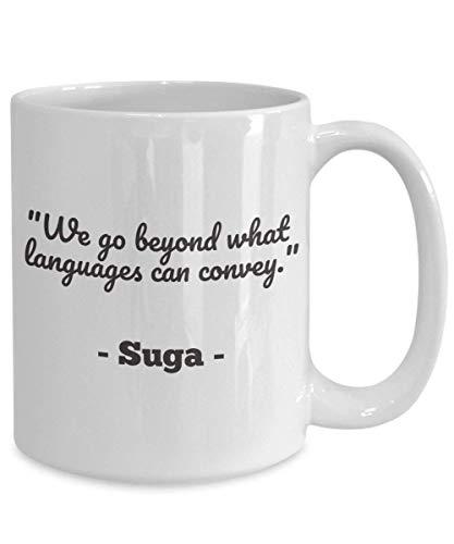 N\A KPOP BTS Suga Merchandise Vamos más allá de los Idiomas Ideas de Regalo para Bangtan Boys Min Yoongi Taza de café Boy Scouts a Prueba de Balas Sugar