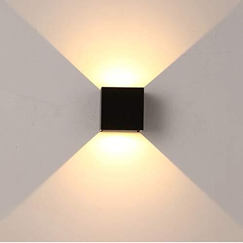 MUMUMI Lámpara de pared de aluminio Lámpara de pared COB Fuente de luz 10W Arriba y Down Lighting Interior y al aire libre Impermeable Muro cuadrado Aplique luces, Decoración sencilla y moderna Ilumin