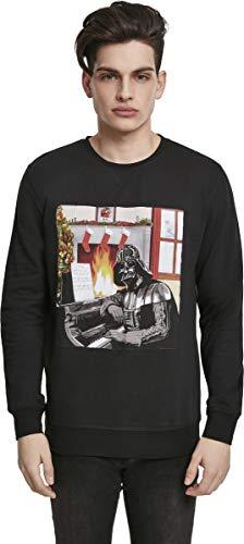MERCHCODE Star Wars Herren Darth Vader Piano Crewneck Sweatshirt, Black, XXL