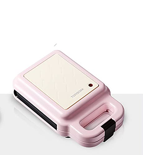 QALI Sandwich Toaster and Toastie Maker with Removable Plates,Toasted Sandwich Maker Microwaveable Cookware, Silicone and coated metal Non-Stick, Stainless Steel,Pink