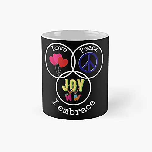 Love Peace Joy Classic Mug - Unique Gift Ideas For Her From Daughter Or Son Cool Novelty Cups 11 Oz.
