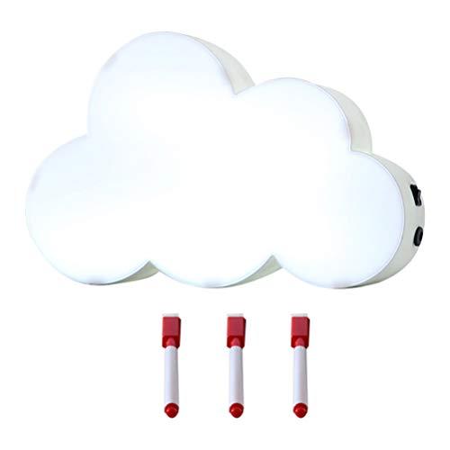 PRETYZOOM - Caja de luz con forma de nubes para escribir mensajes...