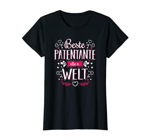 Damen Beste Patentante der Welt - Süße Schöne Witzige Sprüche Idee T-Shirt
