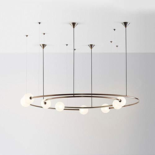 BINGFANG-W Lámpara de vidrio Lámpara de vidrio LED Lámpara de vidrio Lámpara de la sala de estar Luces de techo Restaurante El dormitorio Deco Light incluye bombilla LED Moderno