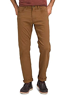 "prAna - Men's Brion Lightweight, Breathable, Wrinkle-Resistant Stretch Pants for Hiking and Everyday Wear, 30"" Inseam, Sepia, 30"
